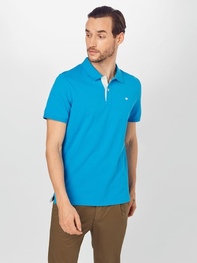 TOM TAILOR Тениска в небесносиньо / бяло: Изглед отпред