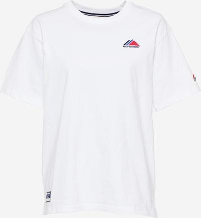 Superdry T-shirt en bleu marine / rouge / blanc, Vue avec produit