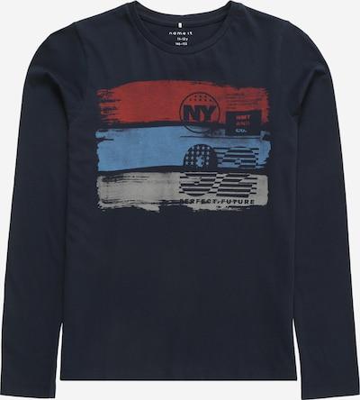 NAME IT T-Shirt 'REHAN' en bleu roi / bleu foncé / gris / rouge, Vue avec produit