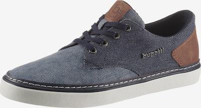 bugatti Sneaker in blue denim / braun, Produktansicht