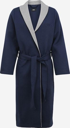 BOSS Casual Badjas lang  in de kleur Donkerblauw / Grijs, Productweergave