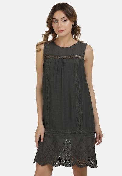 DreiMaster Vintage Kleid in anthrazit, Modelansicht