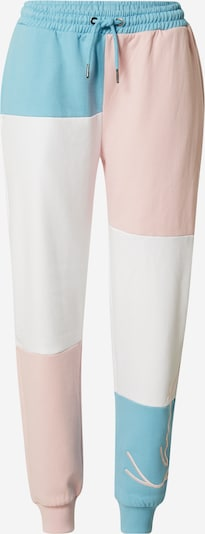 Pantaloni Karl Kani pe albastru deschis / roz / alb, Vizualizare produs