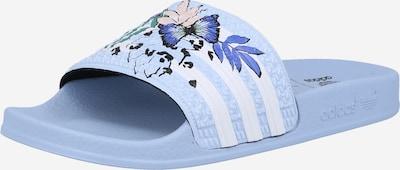 ADIDAS ORIGINALS Badeschuh  'Adilette ' in hellblau / weiß, Produktansicht