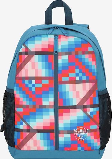 CHIEMSEE Rucksack 'Get n Ready' in himmelblau / rot / schwarz / weiß, Produktansicht