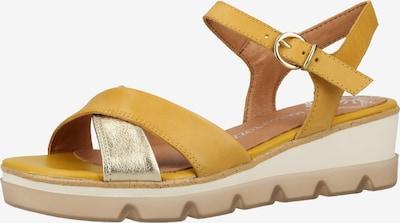 MARCO TOZZI Sandale in gelb / gold, Produktansicht