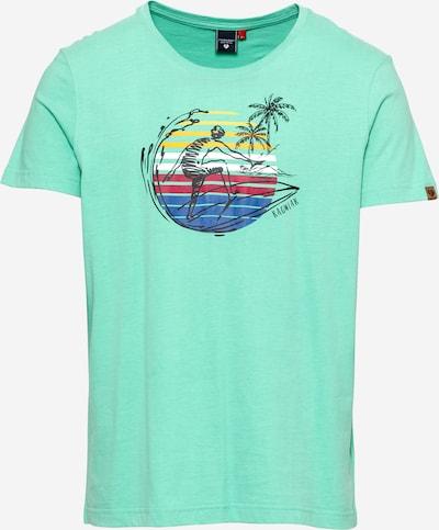 Ragwear Shirt 'ADDIE' in royalblau / gelb / mint / himbeer / schwarz, Produktansicht