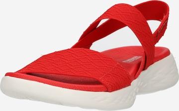 SKECHERS Sandale 'ON-THE-GO' in Rot