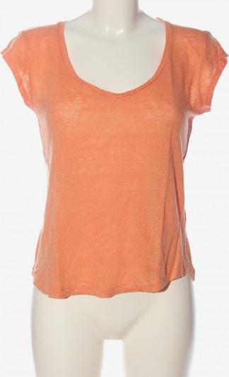 Massimo Dutti V-Ausschnitt-Shirt in S in hellorange, Produktansicht