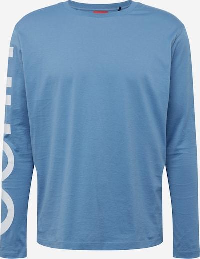 HUGO Koszulka 'DEMEOS211' w kolorze podpalany niebieski / białym, Podgląd produktu