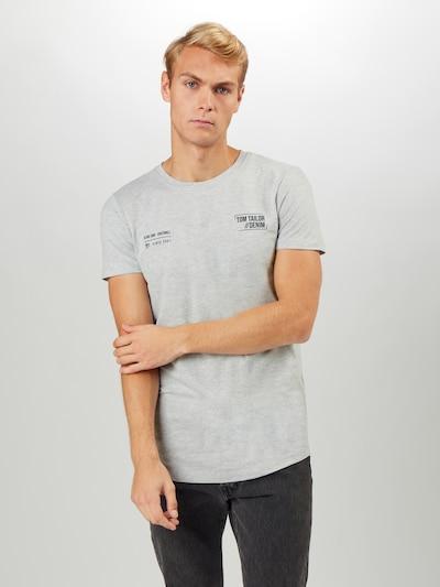 TOM TAILOR DENIM T-Shirt in graumeliert: Frontalansicht