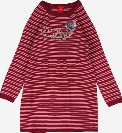 s.Oliver Strickkleid in rosa / dunkelrot, Produktansicht