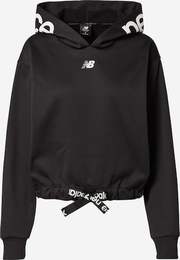 new balance Sportsweatshirt 'Relentless' in schwarz / weiß, Produktansicht