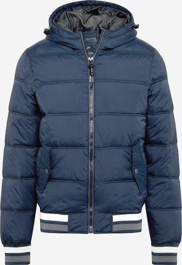 INDICODE JEANS Prijelazna jakna 'Trejo' u mornarsko plava / bijela, Pregled proizvoda