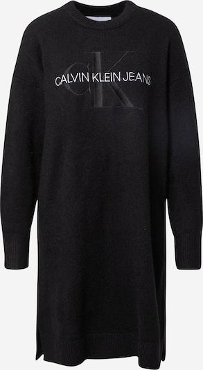 Calvin Klein Jeans Vestido de punto en negro / blanco, Vista del producto