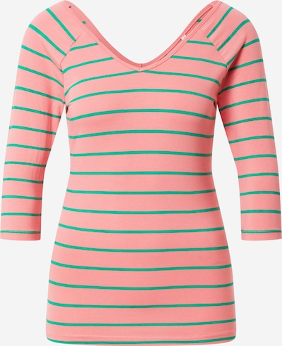 ONLY Shirt 'FIFI ' in green / pink: Frontal view