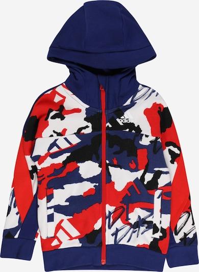 ADIDAS PERFORMANCE Спортна жилетка с качулка в тъмносиньо / червено / черно / бяло, Преглед на продукта