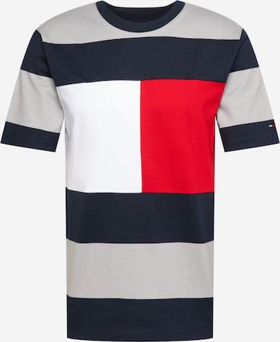 TOMMY HILFIGER Tričko - námořnická modř / šedá / červená / bílá, Produkt