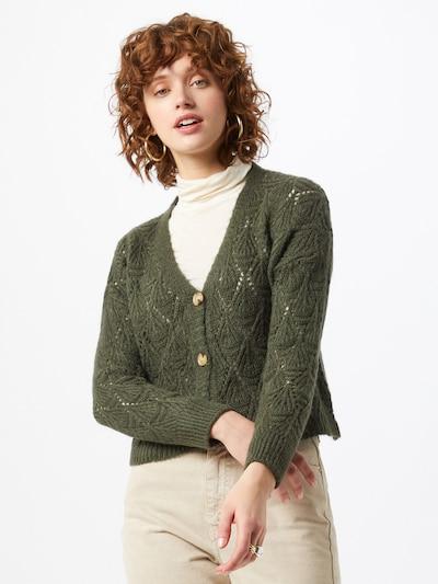 Hailys Strickjacke 'Adele' in khaki, Modelansicht
