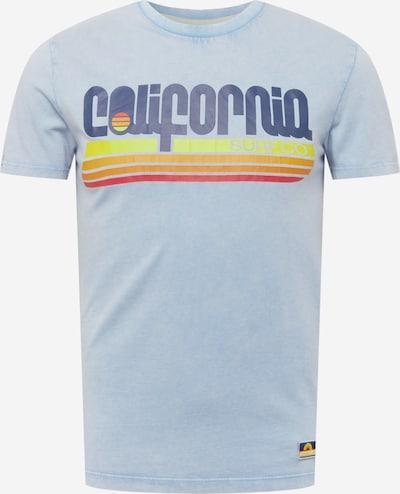 Superdry T-Shirt 'CALI SURF' in hellblau / dunkelblau / gelb / orange / rot, Produktansicht