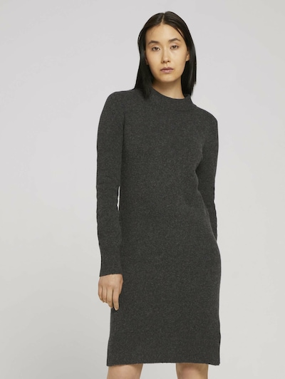 TOM TAILOR Kleid in dunkelgrau, Modelansicht