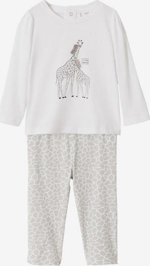 MANGO KIDS Schlafanzug in grau / hellgrau, Produktansicht