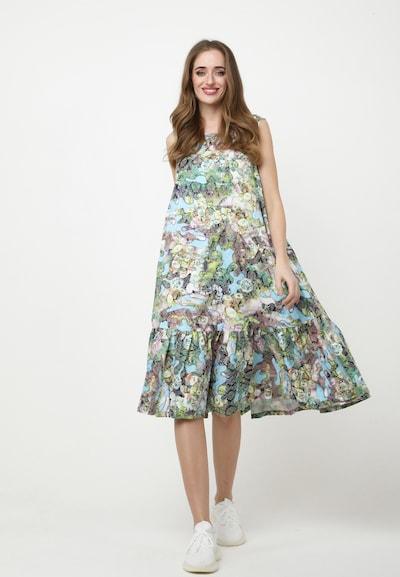 Madam-T Kleid 'Ella' in grün / mischfarben, Modelansicht