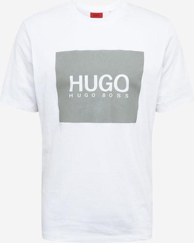 HUGO Тениска 'Dolive' в тъмносиво / бяло, Преглед на продукта
