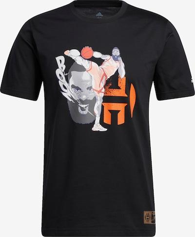 ADIDAS PERFORMANCE T-Shirt 'Harden Geek Up Kick' in grau / orange / schwarz, Produktansicht