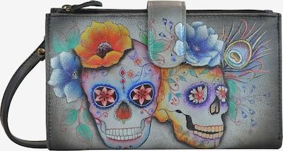 ANUSCHKA Brieftasche Calaveras de Azucar aus handbemaltem Leder in mischfarben, Produktansicht