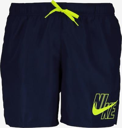 Nike Swim Badeshorts in dunkelblau / grün, Produktansicht