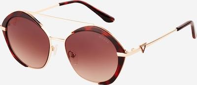 GUESS Sunčane naočale u kestenjasto smeđa / hrđavo smeđa / zlatna, Pregled proizvoda