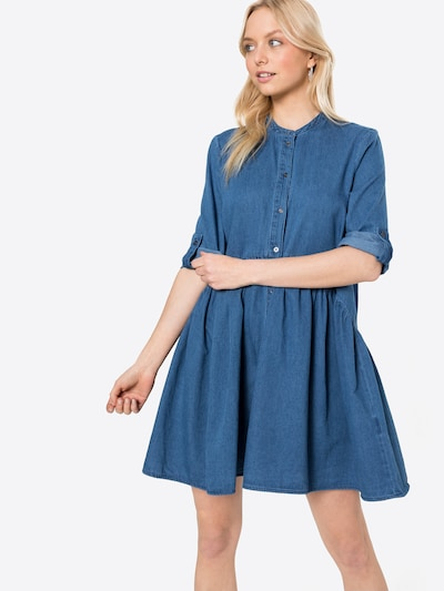 ONLY Vestido camisero 'CHICAGO' en azul denim, Vista del modelo