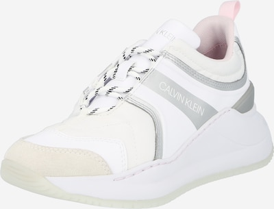 Sneaker low Calvin Klein Jeans pe gri argintiu / roz pal / alb, Vizualizare produs