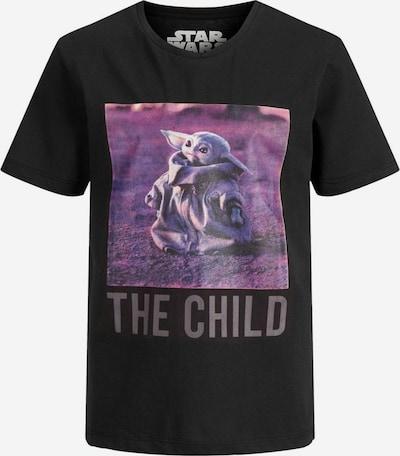 Jack & Jones Junior T-Shirt in lila / schwarz, Produktansicht