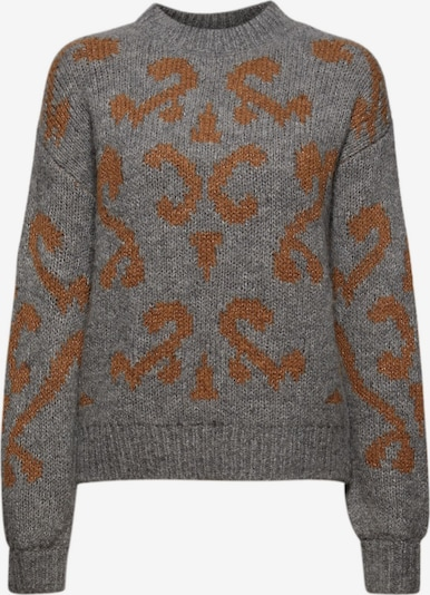 Esprit Collection Pullover in karamell / graphit, Produktansicht
