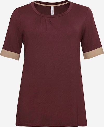 SHEEGO Shirt in Beige / Wine red, Item view