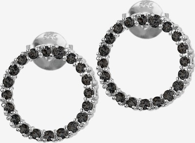 Jacques Lemans Earrings in Black / Silver, Item view