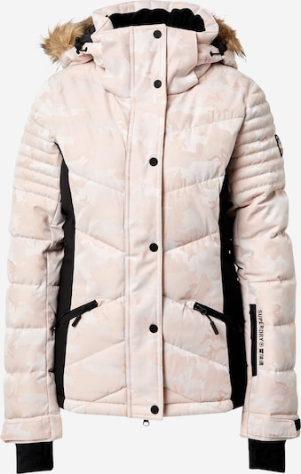 Superdry Snow Outdoorjas 'Luxe' in de kleur Lichtroze / Zwart, Productweergave