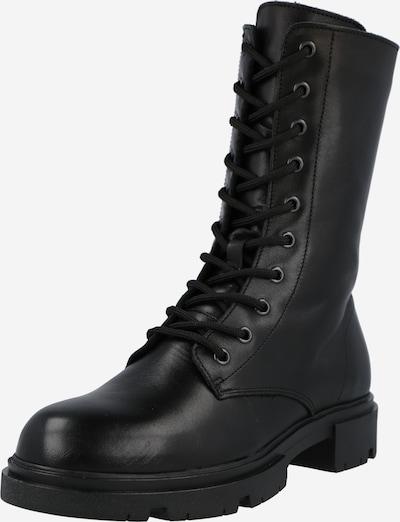 PS Poelman Bottes à lacets en noir, Vue avec produit