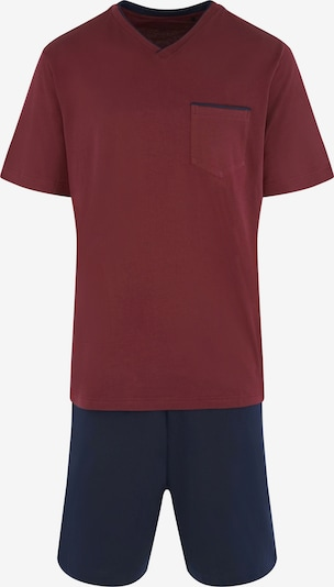 SEIDENSTICKER Pyjama kort in de kleur Navy / Bordeaux, Productweergave