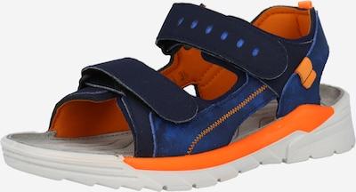 RICOSTA Chaussures ouvertes 'TAJO' en bleu marine / bleu roi / orange fluo, Vue avec produit
