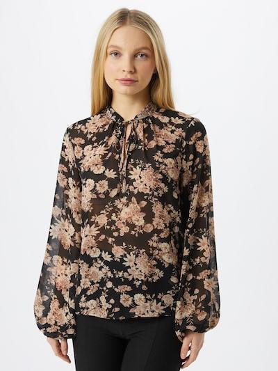 VILA Bluse 'Vindi' in beige / rosa / schwarz, Modelansicht