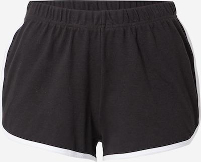 Pantaloni Urban Classics pe negru / alb, Vizualizare produs