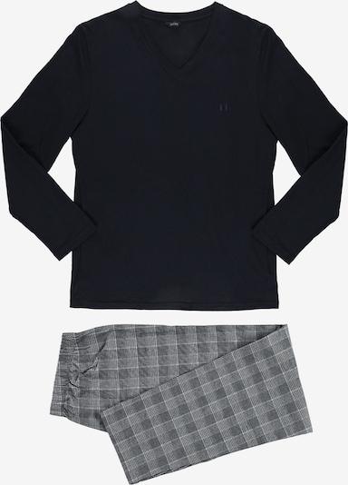 HOM Pyjama lang ' Benjamin ' in de kleur Grijs / Zwart, Productweergave