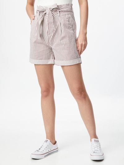 VERO MODA Pantalon à pince 'EVA' en rouge / blanc, Vue avec modèle