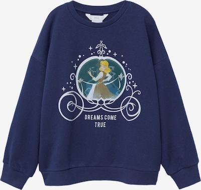 MANGO KIDS Sweatshirt 'Espejo' in marine / azur / mokka / goldgelb / weiß, Produktansicht