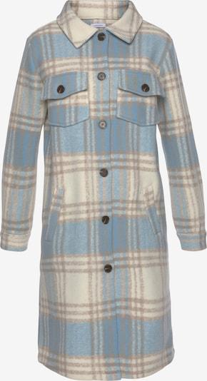 LASCANA Mantel in beige / hellblau / braun, Produktansicht