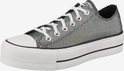 CONVERSE Sneaker 'Chuck Taylor All Star Lift - Ox' in anthrazit / schwarzmeliert: Frontalansicht