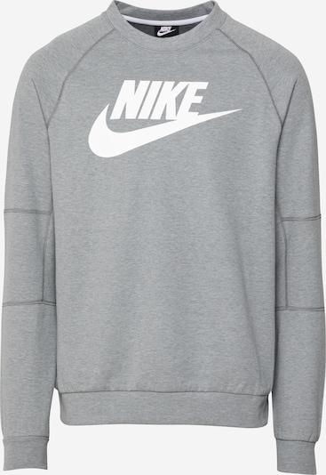 Nike Sportswear Sweat-shirt en gris chiné / blanc, Vue avec produit